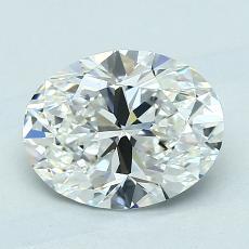 Piedra recomendada 1: Diamantes de talla ovalada de 1.71 quilates