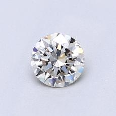 0,50-Carat Round Diamond Ideal J VS1