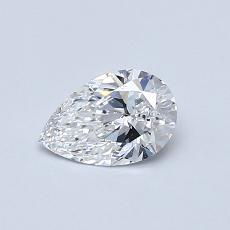 Piedra recomendada 2: Diamante en forma de pera de0.51 quilates