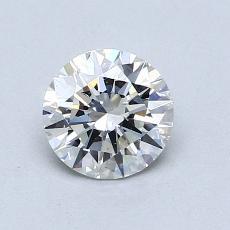 0.77 Carat 圓形 Diamond 理想 H SI1