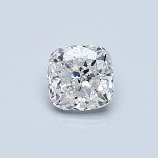 0.52-Carat Cushion Diamond Very Good D VVS1