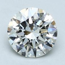 2.01-Carat Round Diamond Ideal I VVS2
