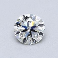 0,70-Carat Round Diamond Very Good I VVS2
