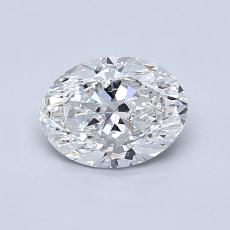Recommended Stone #2: 0,80-Carat Oval Cut Diamond