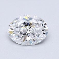 0.98-Carat Oval Diamond Very Good D VVS2