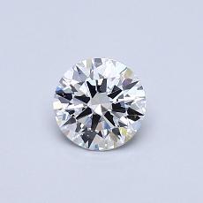 0,50 Carat Rond Diamond Idéale D FL