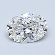 1.01-Carat Oval Diamond Very Good F VS1