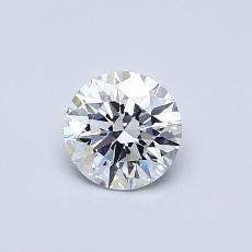 0.50-Carat Round Diamond Ideal D IF