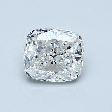 0.80-Carat Cushion Diamond Very Good F VVS2