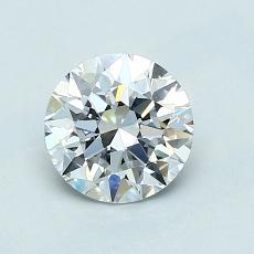 0.90-Carat Round Diamond Ideal D IF
