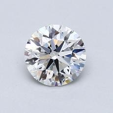 0.80-Carat Round Diamond Ideal F VVS1