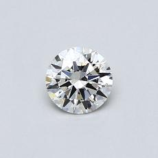 0.30-Carat Round Diamond Ideal I VVS2