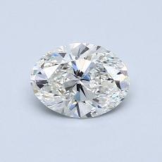 0,70 Carat Ovale Diamond Très bonne G VS1