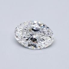0.50-Carat Oval Diamond Very Good D SI1