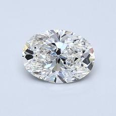 0.71 Carat 橢圓形 Diamond 非常好 H VS1
