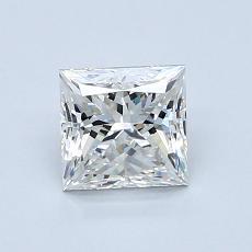 1.00 Carat 公主方形 Diamond 非常好 H VS1