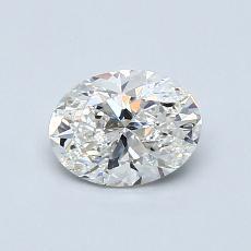 0.70 Carat 椭圆形 Diamond 非常好 G SI1