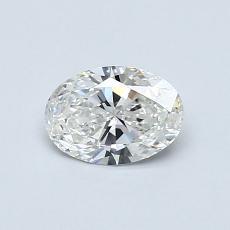 0.50 Carat 橢圓形 Diamond 非常好 G VS2