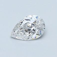 0.52-Carat Pear Diamond Very Good D SI1