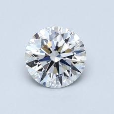 0.72-Carat Round Diamond Ideal E VS1