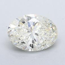 2,01 Carat Ovale Diamond Très bonne K SI2