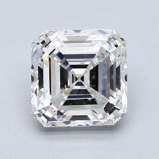 所選擇的鑽石: 2.50  克拉上丁方形鑽石