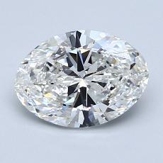 1.50 Carat 橢圓形 Diamond 非常好 G VVS2