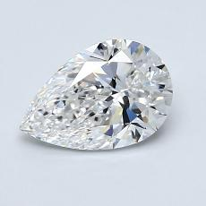 1.00-Carat Pear Diamond Very Good E VS1