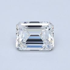 0.70-Carat Emerald Diamond Very Good F VVS2