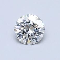 0,61-Carat Round Diamond Ideal H SI1