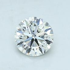 0.90 Carat 圓形 Diamond 非常好 I VS1