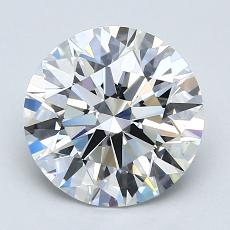 2.04 Carat 圓形 Diamond 理想 E VS1