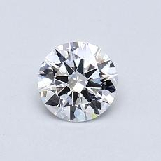 0,51-Carat Round Diamond Ideal E VVS2