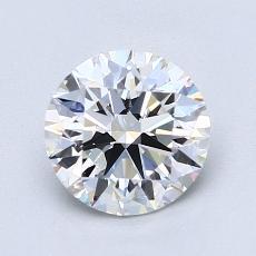 1.30-Carat Round Diamond Ideal D VS1
