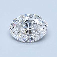 0.90-Carat Oval Diamond Very Good E VS1