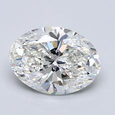 1.50-Carat Oval Diamond Very Good H VVS1