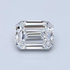 0.70-Carat Emerald Diamond Very Good E IF