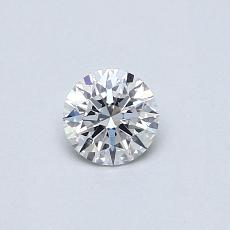 0.30-Carat Round Diamond Ideal E VS1
