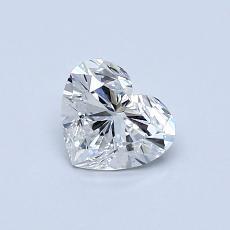 Pierre recommandée n°1: Diamant taille cœur 0,60carat