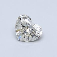 0.57-Carat Heart Diamond Very Good K SI1