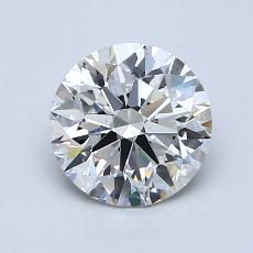 1.32-Carat Round Diamond Ideal F VS2