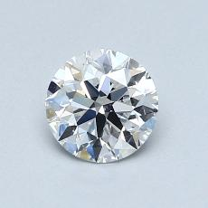 0,81 Carat Rond Diamond Idéale D VS1