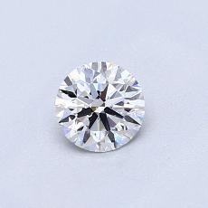 0.41 Carat 圆形 Diamond 理想 D IF