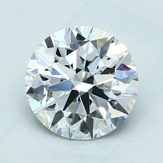 1.50 Carat 圓形 Diamond 理想 D VVS2
