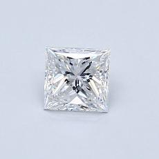 0.50-Carat Princess Diamond Very Good D SI1