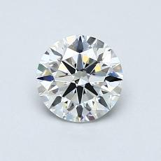 0.71-Carat Round Diamond Ideal F VVS1
