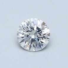 0.53 Carat 圓形 Diamond 理想 F SI1
