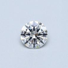 0.30-Carat Round Diamond Very Good F SI1