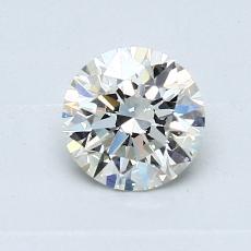 0.70 Carat 圆形 Diamond 理想 J VS2
