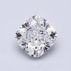 1.05-Carat Cushion Diamond Very Good D IF